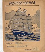 PROTEGE-CAHIERS  LA MER  Bateau Ship Sea - Book Covers
