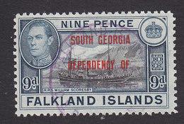 Falkland Islands, South Georgia, Scott #3L7, Used, Ship Overprinted, Issued 1944 - Falkland Islands