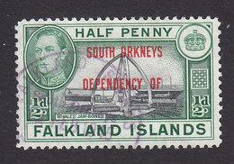 Falkland Islands, South Orkneys, Scott #4L1, Used, Ship Overprinted, Issued 1944 - Falkland Islands