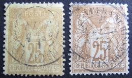 "LOT R1631/1954 - SAGE TYPE II N°92 Avec CàD "" AFFRANCHISSEMENTS "" + N°92a - 1876-1898 Sage (Type II)"