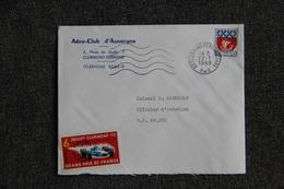 Lettre De CLERMONT FERRAND , Aéro Club D'Auvergne Vers Secteur Postale 69.092 - France