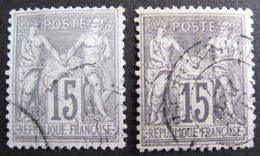 LOT R1631/1957 - SAGE TYPE II N°77 + N°77d - CàD - 1876-1898 Sage (Type II)