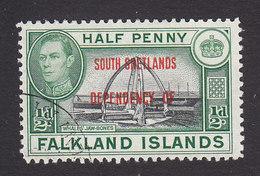 Falkland Islands, South Shetlands, Scott #5L1, Used, Ship Overprinted, Issued 1944 - Falklandeilanden