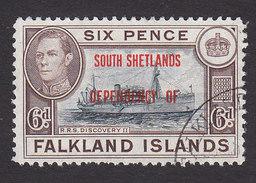Falkland Islands, South Shetlands, Scott #5L6, Used, Ship Overprinted, Issued 1944 - Falkland Islands