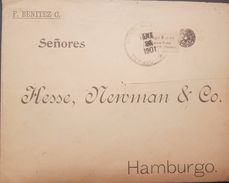 L) 1901 COLOMBIA, TUMACO, BEARING 10C FROM THE POSTAL AGENT MANUEL E. JIMENEZ FROM TUMACO TO HAMBURG IN GERMANY, XF - Colombie