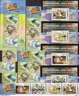 2005 Makedonien 370/3,4-Str.,2ZD,Block 13,Georgia 511/4,Blocks 35/8 ** 175€ Stamps On Stamp S/s Sheets Ms Bf EUROPA - Macédoine