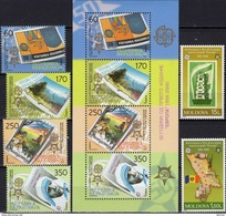 1956-2006 EUROPA Moldawien 517/8,Makedonia 370/3+Block 13 ** 75€ S/s Map Blocs Stamps On Stamp Sheet 50 Jahre CEPT - Moldova