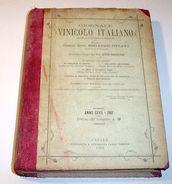 Vino Enologia Giornale Vinicolo Italiano Annata Completa - 1901 - Libri, Riviste, Fumetti