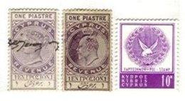 CYPRUS, Revenues, */o M/U, F/VF - Cyprus (...-1960)