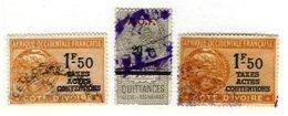 IVORY COAST, Revenues, Used, F/VF - Ivoorkust (1892-1944)
