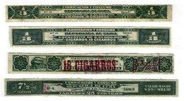 SP. ANTILLES,  Tobacco Tax (Cigars), */o M/U, F/VF - Cuba
