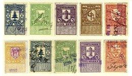 ESTONIA, Revenues, B&H 261/63, 265, 268/73, Used, F/VF, Cat. £ 25 - Estonie