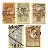 ESTONIA, Revenues, B&H 250, 252, 255/56, 279, Used, F/VF - Estonie