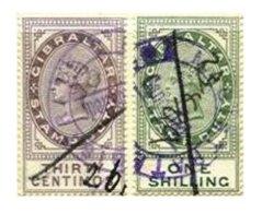 GIBRALTAR, Revenues, B&H 1, 11, Used, F/VF, Cat. £ 20 - Gibraltar
