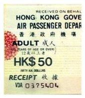 HONG-KONG, Airport Tax, F/VF - Hong Kong (...-1997)