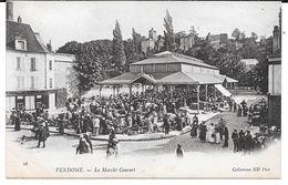 Cpa Vendome - Le Marché Couvert . (Précurseur). - Vendome