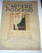 Rivista Architettura Ferro Battuto L'Artiere Moderno Anno III N° 1 - 1927 - Libri, Riviste, Fumetti
