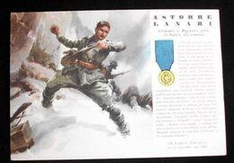 WWII Cartolina - Medaglie D' Oro Guerra 1940 - Lanari - Militari