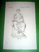 Stampa Incisione Mitologia - TRAIANO ( Incisore G. C. ) - 1700 Ca - Stiche & Gravuren