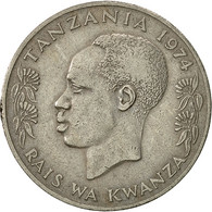 Tanzania, Shilingi, 1974, TTB, Copper-nickel, KM:4 - Tanzanie
