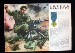WWII Cartolina - Medaglie D' Oro Guerra 1941 - Galluppi - Militari