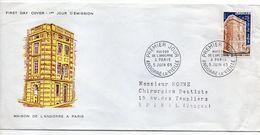Andorre--1965--FDC  Maison De L'Andorre  à Paris - FDC