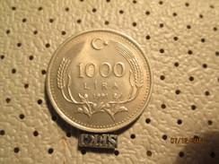 TURKEY 1000 Lira 1991  # 6 - Turkey