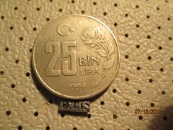 TURKEY 25 Lira 1996  # 6 - Turkey