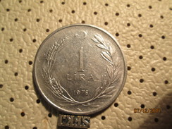 TURKEY 1 Lira 1976  # 6 - Turkey
