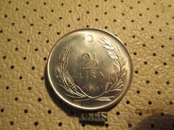 TURKEY 2 1/2  Lira 1968  # 6 - Turkey