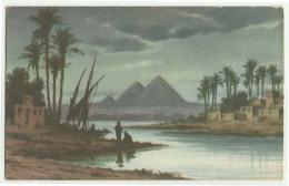 EGPC088 Egypt - Moonlight Near Pyramids Postcard - Pyramids