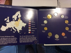 2004 The Last National Coins Of 10 New EU Members,Sealed Mint Set UNC,VF !!! - EURO
