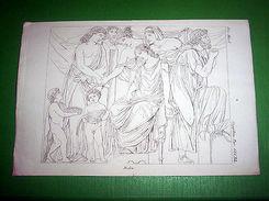 Stampa Incisione Mitologia - MEDEA - 1700 Ca - Stiche & Gravuren