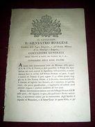 Regno Sardegna Torino Decreto Liquidazione Conti Arretrati Armata Francese 1814 - Old Paper