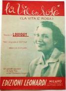 Musica Spartito - La Vita è Rosa - Louiguy - 1946 - Old Paper