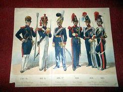 Stampa Militaria Uniformologia - Uniformi Esercito Francia 1850 Ca - Estampes & Gravures