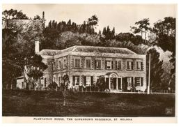 (105) Very Old Postcard / Carte Ancienne - St Helena Island - Government Residence - Saint Helena Island
