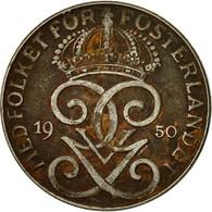 Suède, Gustaf V, 2 Öre, 1950, TTB, Bronze, KM:778 - Suède