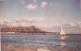 Hawaii Oahu Waikiki Beach and Diamondhead