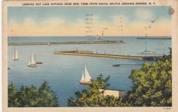 New York Oswego Looking Out Lake Ontario Near New York State Nav