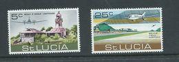St Lucia 1971 Beane Airport & Plane Set 2 MNH - Ste Lucie (...-1978)