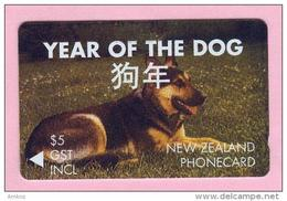 New Zealand - Private Overprint - 1994 Christchurch - $5 Year Of The Dog - CO37 - FU - New Zealand