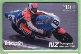New Zealand - Chipcards - 2002 NZ Transport Innovations - $10 Britten Superbike - VFU - Card 083 - New Zealand