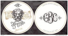 Georgia Coaster Of Beer, Brewery GBC Mirzaani Black Lion Unused - Beer Mats