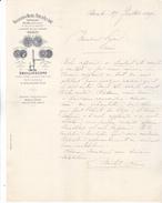 75 Paris - 1899. Malligand & Michel P&Fils,negt En Vins,31 Rue De La Côte D'or,Lettre Illustrée De 1899. Tb état. - France