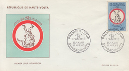 Enveloppe  FDC   1er   Jour     HAUTE  VOLTA      JEUX  SPORTIFS  DE  L' AMITIE     DAKAR   1963 - Obervolta (1958-1984)