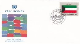 United Nations New York FDC 1981 Flags - Kuwait  (DD12-1) - Covers