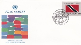 United Nations New York FDC 1981 Flags - Trinidad & Tobago  (DD12-1) - Briefe