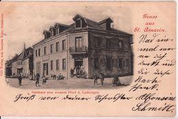 SAINT AMARIN-GRUSS-GASTHAUS ZUM WEISSEN PFERD A.LUTHRINGER - Saint Amarin