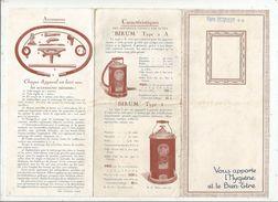 Publicité , ASPIRATEUR BIRUM , 8 Pages , 2 Scans , Illustrations ,  Frais Fr : 1.55 E - Advertising